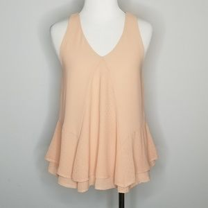 Anthropologie | Sunday in Brooklyn Swing Peach Top